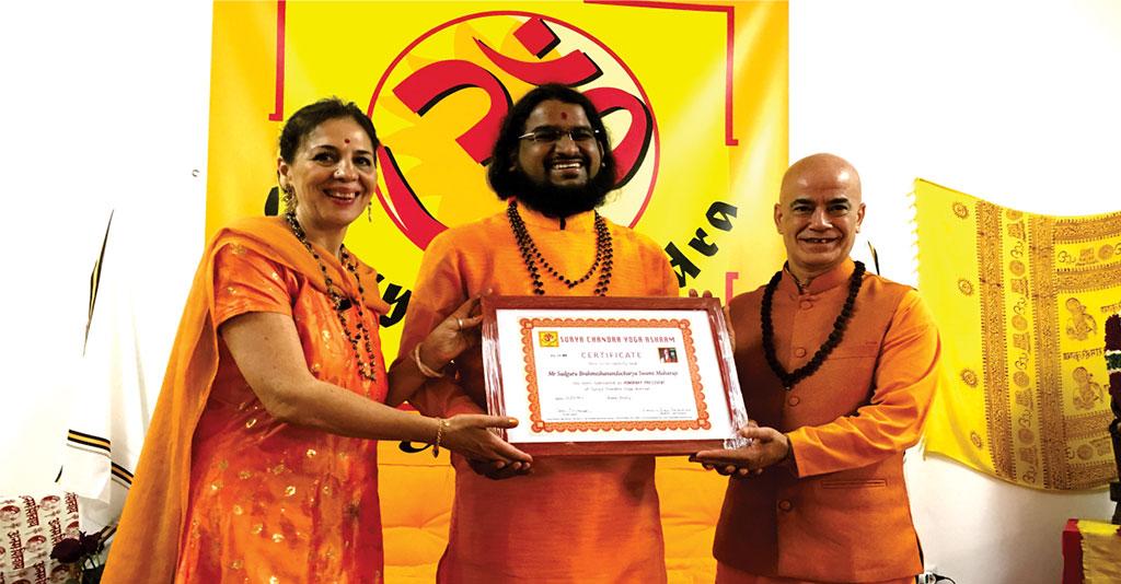 Honarary Presdentship at Suryachandra yog Ashram Italy